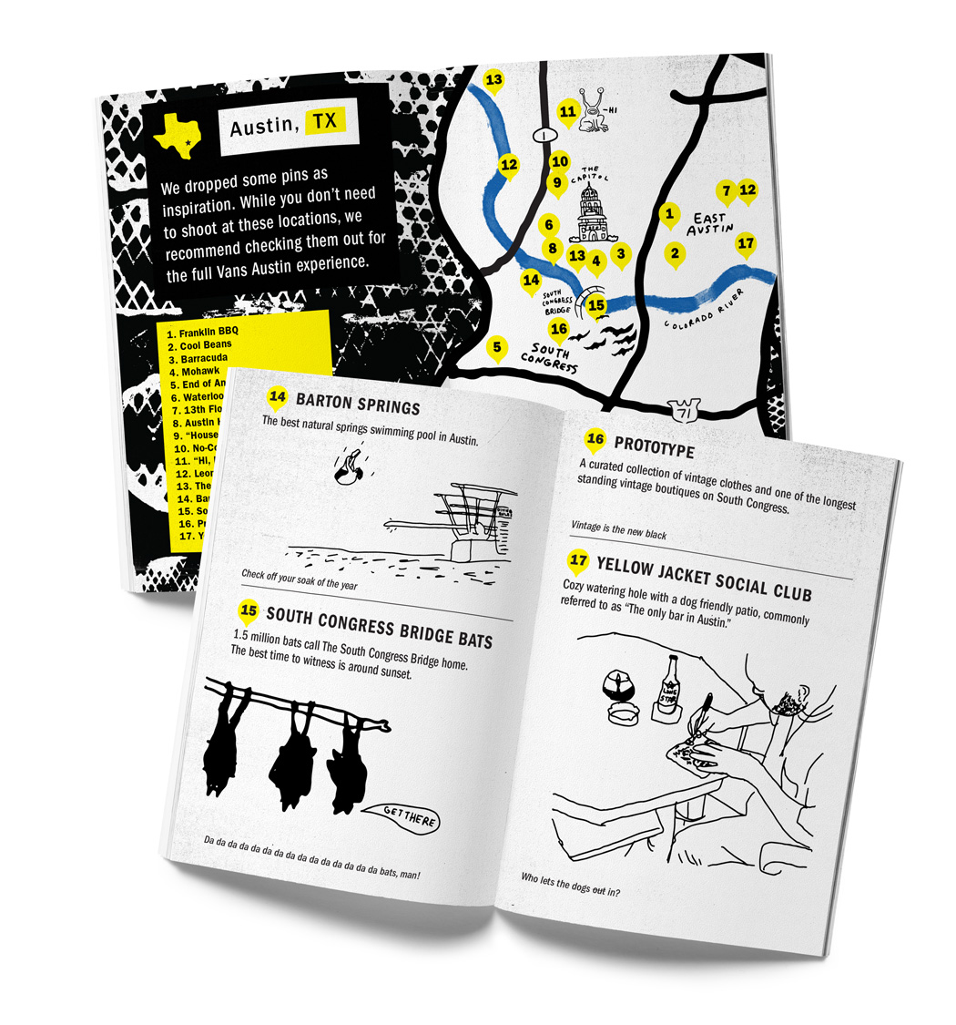 SXSW City Guide by Nathan Bell for Vans