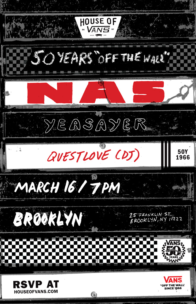 50 Years 'Off The Wall' SXSW Poster by Nathan Bell for Vans